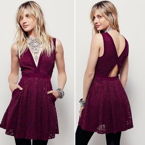 Free People Lovely in Love Lace Dress
